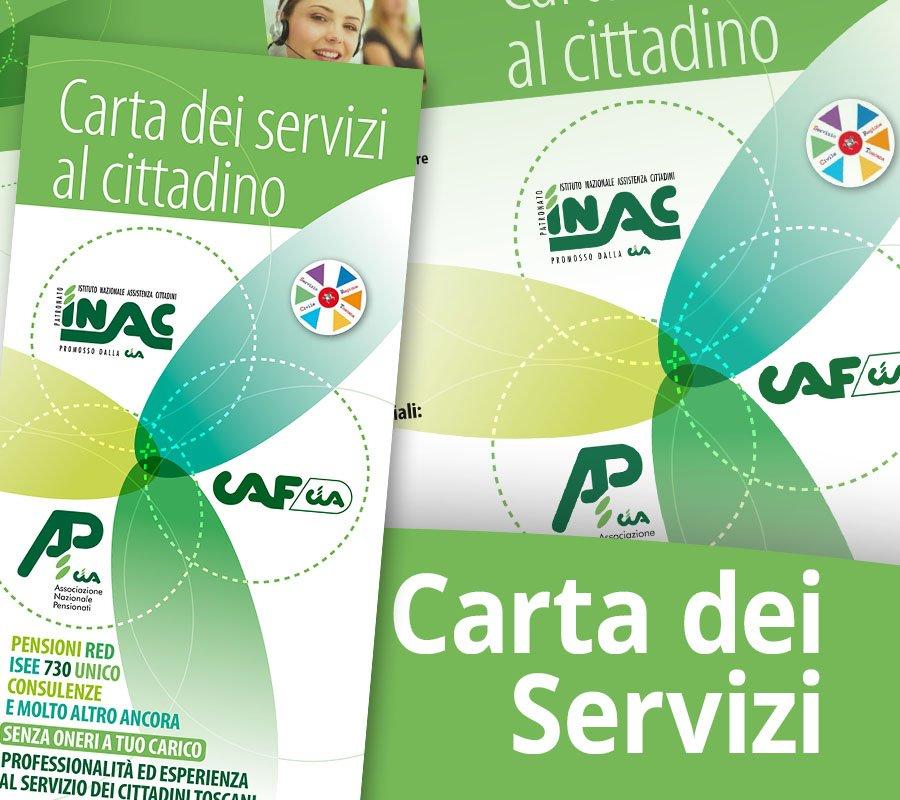 Carta dei servizi al cittadino di Anp, Caf e Inac Toscana