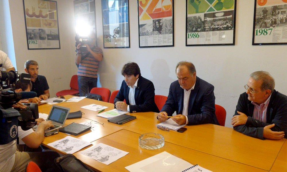 Settembre 2014, la conferenza stampa di presentazione del dossier della Cia Toscana sul Piano paesaggistico della Regione