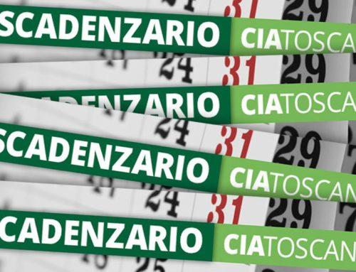 È online lo scadenzario Cia Toscana di ottobre 2016