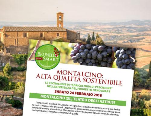Montalcino: Alta qualità sostenibile. Appuntamento il 24 febbraio 2018