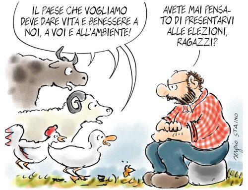 2019, novembre / La vignetta di Sergio Staino