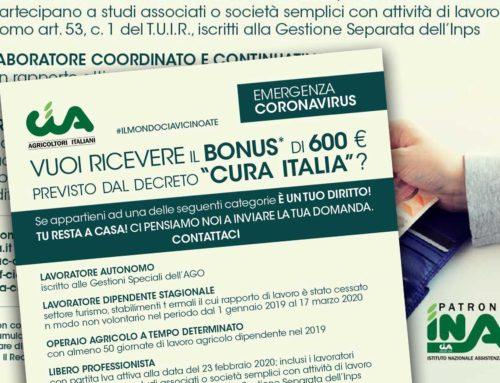 Vuoi il bonus di 600 euro del Cura Italia. Stai a casa, ci pensiamo noi a inviare la domanda