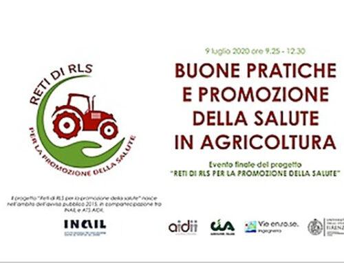 Buone pratiche e promozione della salute in agricoltura. Webinar il 9 luglio: ecco come partecipare