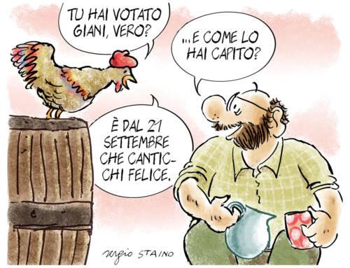 2020, ottobre / La vignetta di Sergio Staino