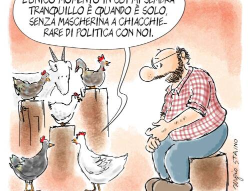 2021, aprile / La vignetta di Sergio Staino