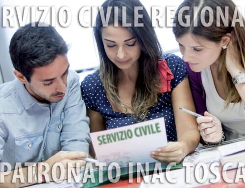 Lunedì 14 giugno i colloqui per le selezioni del Servizio civile regionale della Toscana per i progetti del Patronato Inac