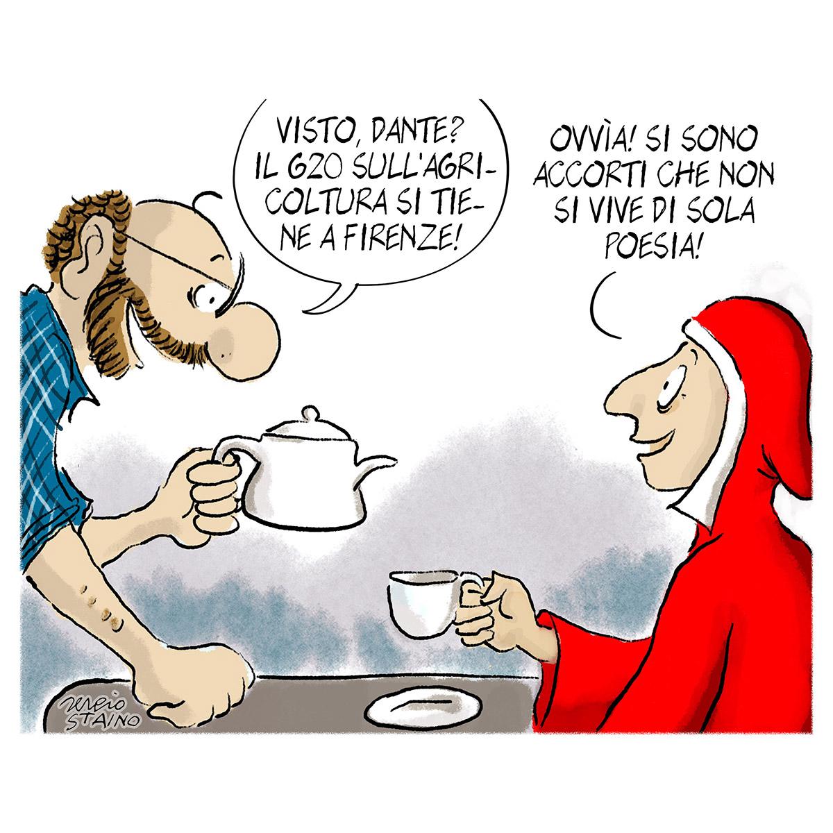 La vignetta di Sergio Staino